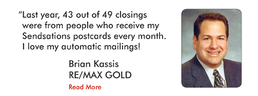 Sendsations postcards add an